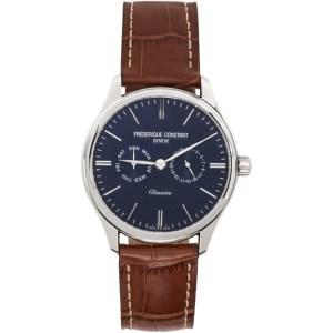 Frederique Constant Silver and Brown Classics Gents Quartz Watch