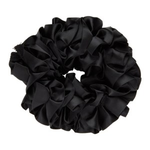 Maryam Nassir Zadeh Black Silk Carnation Scrunchie