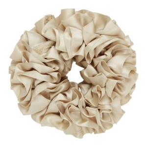 Maryam Nassir Zadeh Beige Silk Carnation Scrunchie