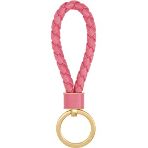 Bottega Veneta Pink Intrecciato Keychain