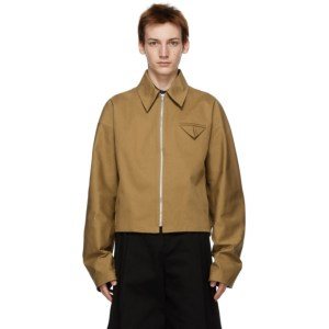 Bottega Veneta Tan Twill Jacket
