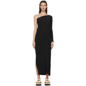 Issey Miyake Black Botanical Pleats Solid Long Dress
