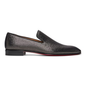 Christian Louboutin Black Metallic Dandelion Loafers