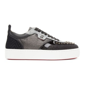 Christian Louboutin Black and Grey Happyrui Sneakers