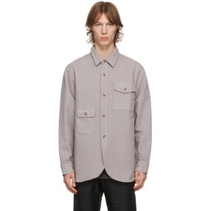 Han Kjobenhavn Grey Pocket Army Shirt