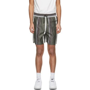 Han Kjobenhavn Grey Striped Track Shorts