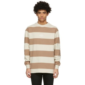 Han Kjobenhavn Beige Striped Boxy Long Sleeve T-Shirt