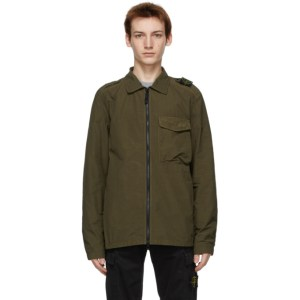 Stone Island Green Nylon Zip Jacket