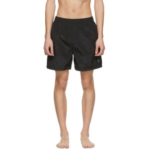 Stone Island Black Logo Patch Swim Shorts