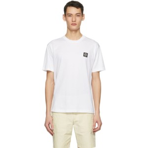 Stone Island White Logo Patch T-Shirt