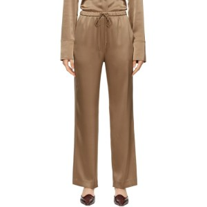 Nanushka Brown Satin Tupsa Lounge Pants