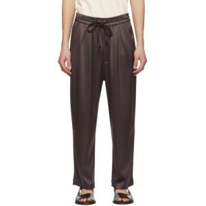 Nanushka Brown Satin Jiro Trousers