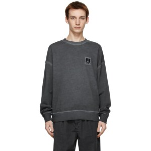 Saturdays NYC Grey Washed Ari Peace Sweatshirt