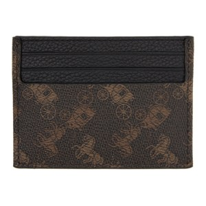 Coach 1941 Brown and Black Horse and Carriage Card Holder
