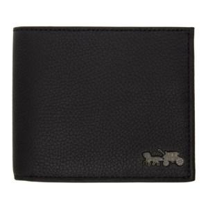 Coach 1941 Black Double Billfold Wallet