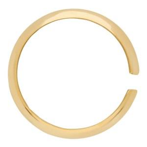 Saskia Diez Gold Pyramid Single Ear Cuff