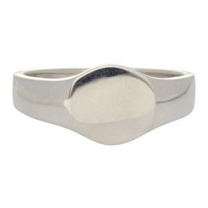 Saskia Diez Silver Round Signet Ring