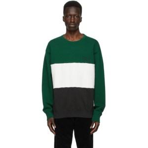 WACKO MARIA Green Three-Tone Washed Sweatshirt
