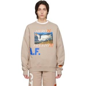 Heron Preston Taupe Heron A.F. Sweatshirt