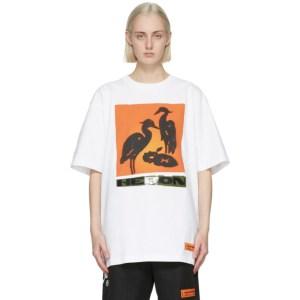 Heron Preston White and Orange Nightshift T-Shirt