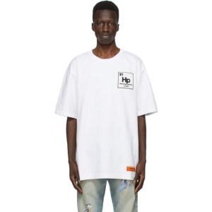 Heron Preston White and Blue Herons Halo T-Shirt
