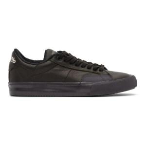 Heron Preston Black Vulcanized Low Sneakers