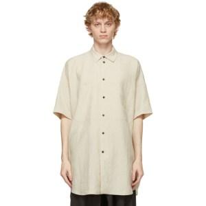 Jan-Jan Van Essche Beige Linen Short Sleeve Shirt