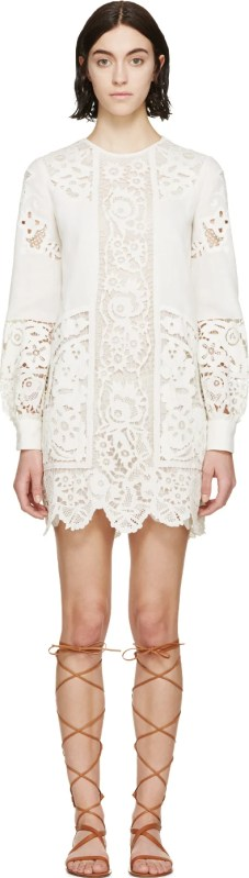white lace Valentino dress