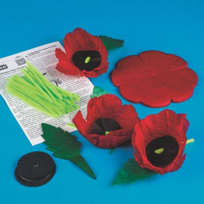 Remember Military Poppies Craft Kit