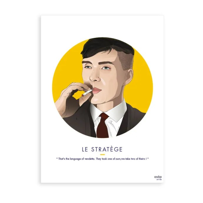 asap poster thomas shelby le stratege 30 40