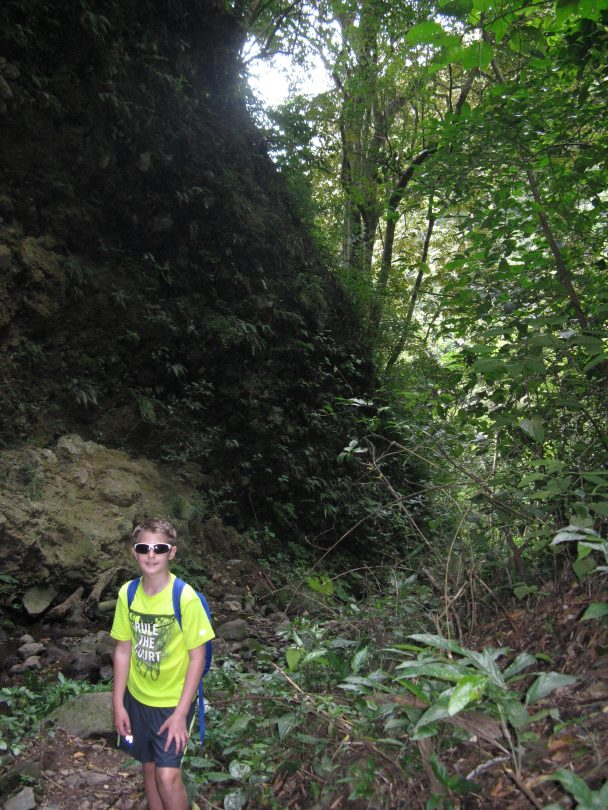 Lucas on the trail to the waterfall