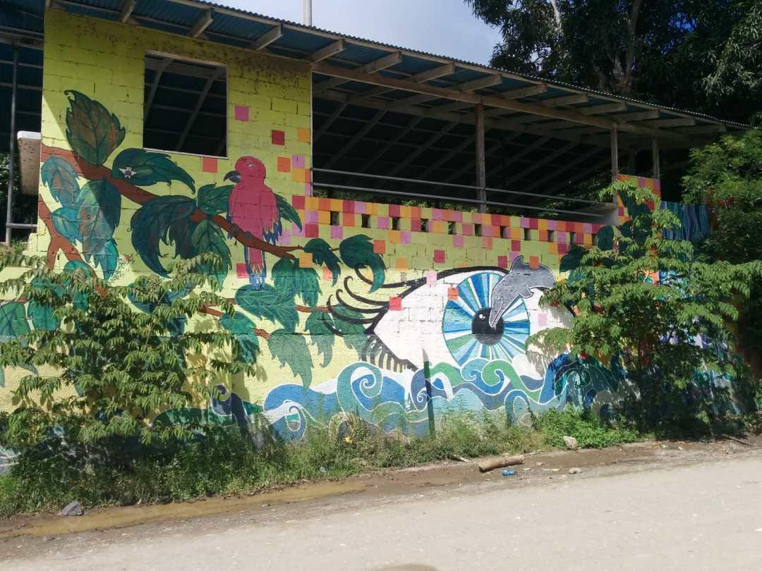 Painted building in Montezuma