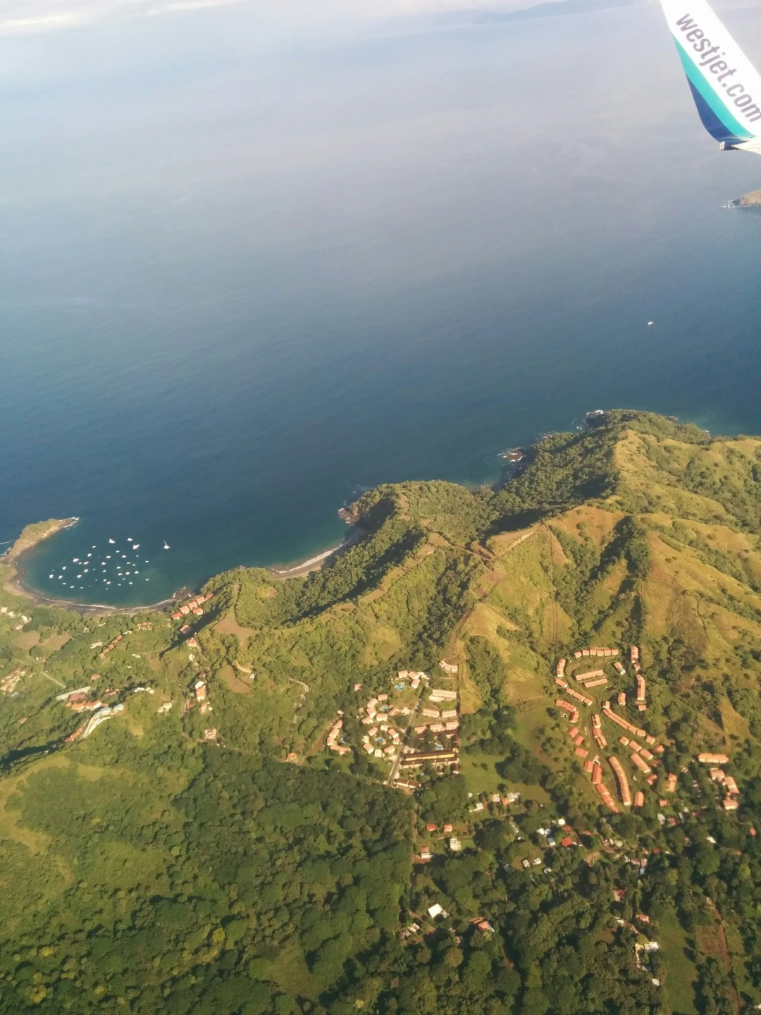 The Pacific coast of Costa Rica, approaching Liberia