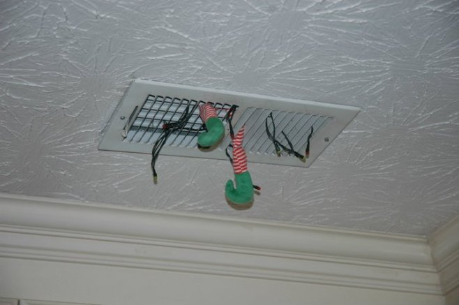 Elf caught exploring the duct work