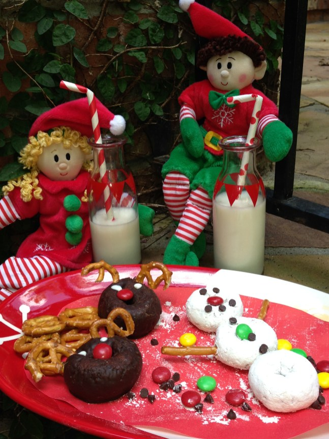 Snowman and Reindeer donuts