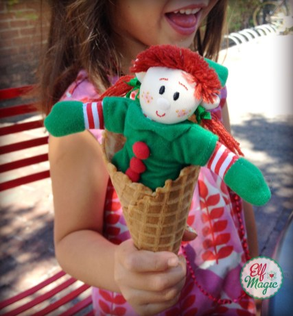Elf Magic Ice Cream Cone Day