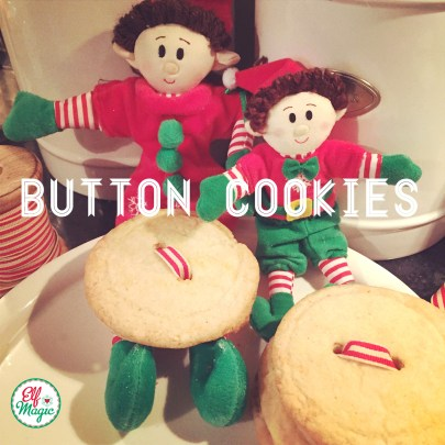 Elf Magic Holiday Button Cookies