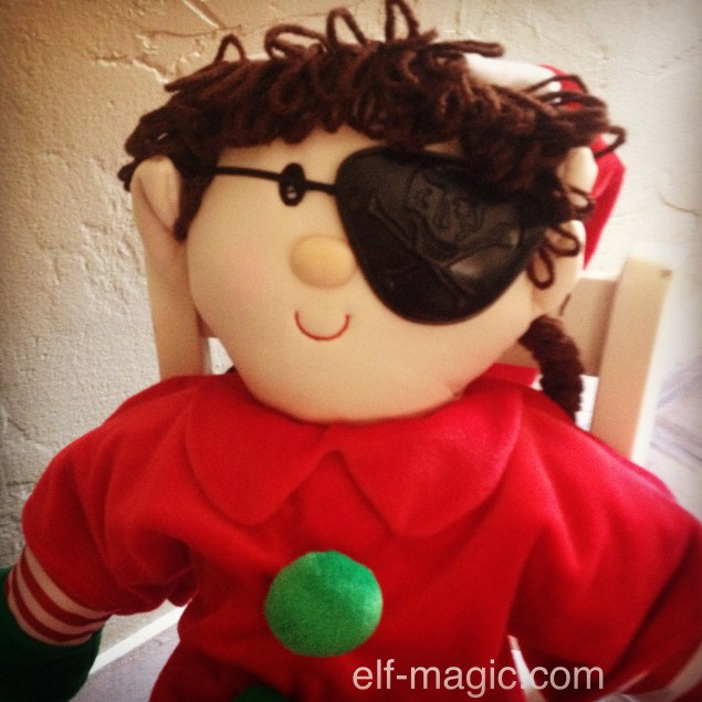 Elf in pirate costume