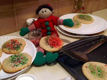 Elf with Christmas Cookies