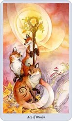 lo scarabeo tarot ace of wands representing the suit of wands