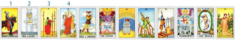 Counting from the Knight of Pentacles