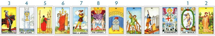 universal rider waite tarot card counting from the world card