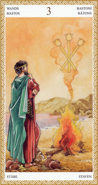 lo scarabeo tarot three of wands