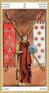 lo scarabeo tarot two of wands