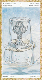 lo scarabeo tarot ace of cups representing the suit of cups
