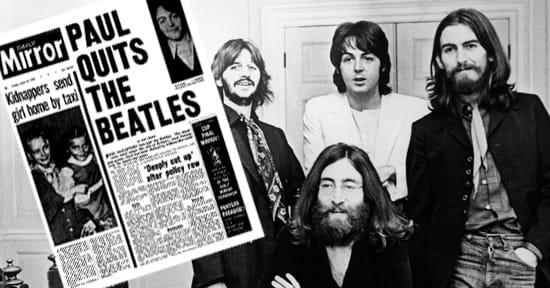 Paul McCartney anuncia la separación de The Beatles