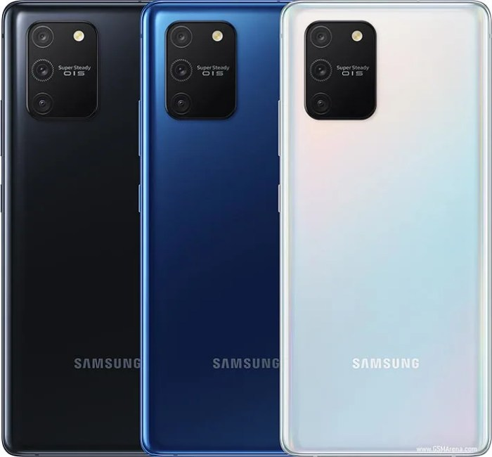 Samsung Galaxy S10 Lite colours