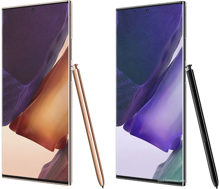 Samsung Galaxy Note 20 Ultra colours