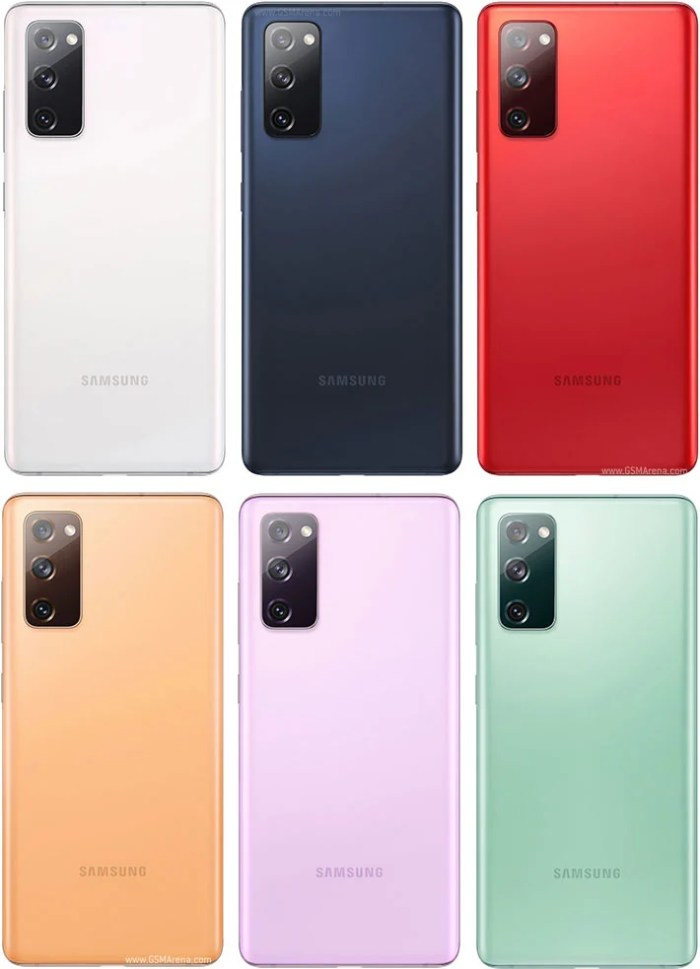 Samsung Galaxy S20 FE colours