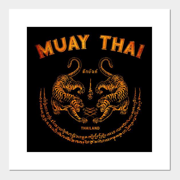muay thai tiger sak yant tattoo kickboxing thailand